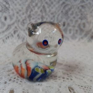 Handcrafted Accents - Miniature Art Glass Kitty 🐈 Cat